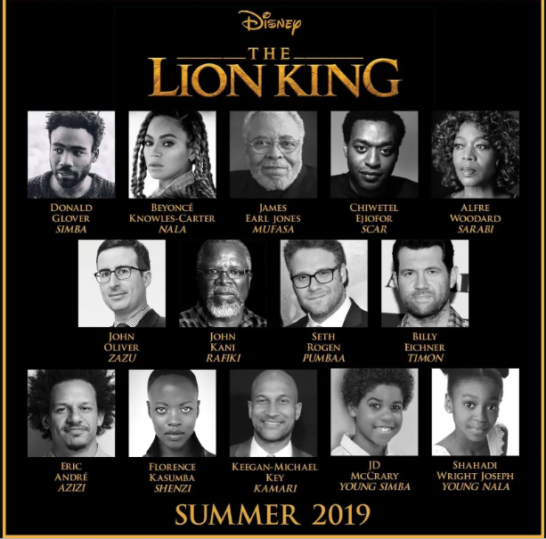 disnep the lion king summer 2019 cast